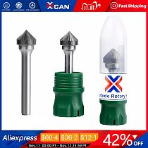 XCAN Single Cut Carbide Burr Type K Rotary Burrs 6mm Shank Rotary Milling Cutter Fine Teeth Rotary File