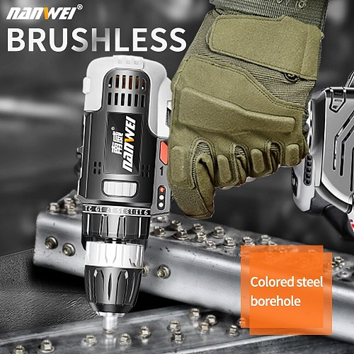 New product brushless 21v cordless brushless electric drill from NANWEI