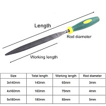 6pcs/set Needle Files 140/160/180mm Metal File Set For Sharpening Stone Wood Carving Jewelry Grinding Hand File Tools