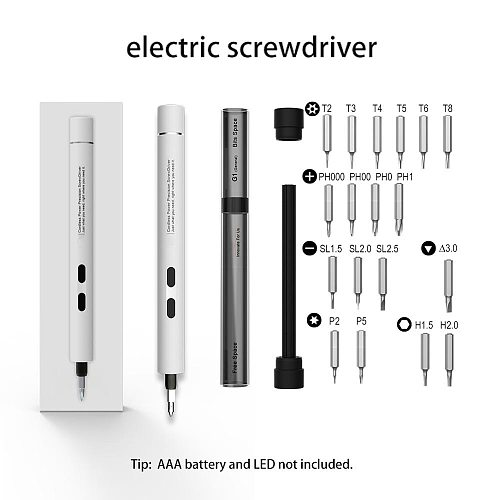 Mini Electric Screwdriver Drill Portable Cordless Power Screw Driver Kit Hand Screwdriver Bit Set For Small Devices PC Repair