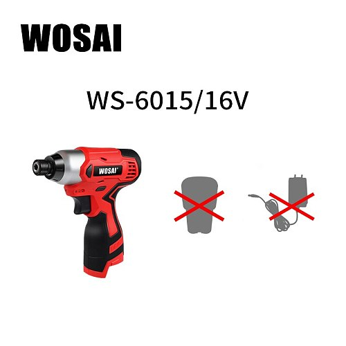 WOSAI Screwdriver cordless Lithium-Ion Cordless Electric drill Household Multifunction Hit Electric Drill Tools Screwdriver