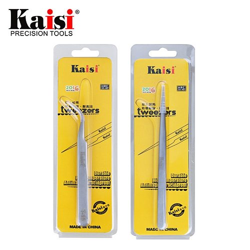 Kaisi High Precision Stainless Steel Curved Straight Tweezers For Cell Phone Tablet Computer Repair Hand Tools T-11 T-15