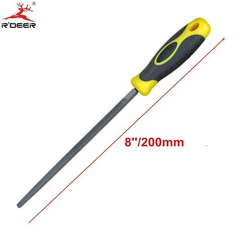 RDEER 8''/200mm Square Files Pointed Head Fine Tooth Double Lines For Woodworking Hand Tools