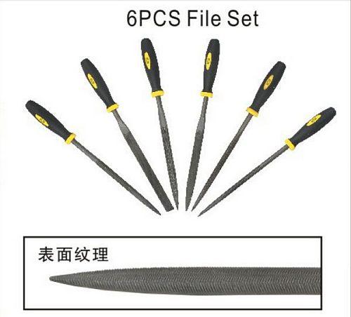 BESTIR taiwan made good quality 6pcs 5*180mm bearing steel file set for  mould glass polishing NO.96212 freeshipping
