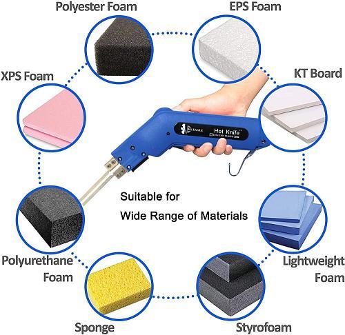 Hot Knife Foam Heat Cutter Kit, Handheld Heat Cutter, Styrofoam Cutter, Polyurethane, Polyethylene, Polyester & Polyether Foam