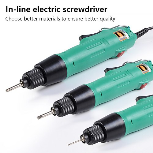 220V Electric Screwdriver H6 Speed 6.35mm Electric Screwdriver Straigh Plug Variable Speed Torque Adjustment