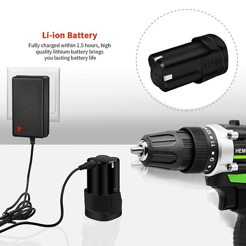 12V 16.8V Adjust speed Home Cordless Power Tools Electric Screwdriver Multi-Function Lithium-Ion Rechargeable Electric Drill