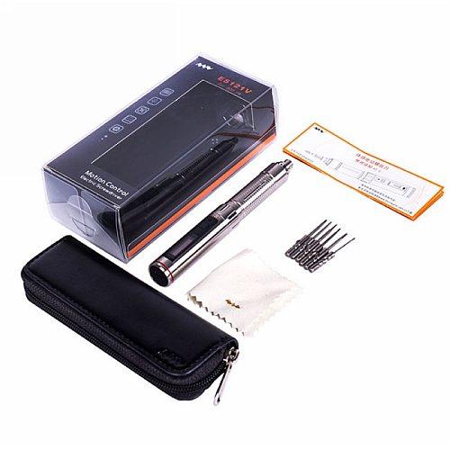 ES121V Mini Precision Cordless Electric Screwdriver Smart Motion Control Power Screwdriver 800-4mm Bits Set