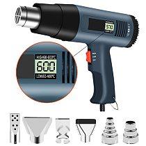 220V 2000W EU Advanced Hot Air Gun Temperatures Adjustable Digtal Display With Nozzles Electric Heat Gun