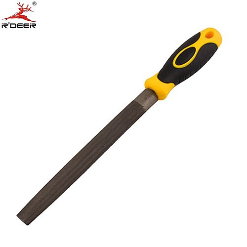 RDEER Semi-Round Files 8''/200mm Flat Head 2-Color Handle Fine Tooth Double lines Woodworking Hand Tools