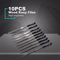 10 PCS Wood Rasp Files Needle T12 Mini File Set Carving Tools Metal Filing Tool Woodworking DIY Hobby Hand Tool