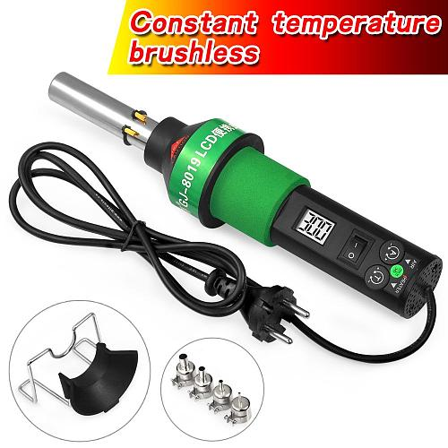 Soldering iron Hot Air Gun hot air station Building industrial hair dryer 8019LCD 450~700W 220V/110V with Four Nozzle
