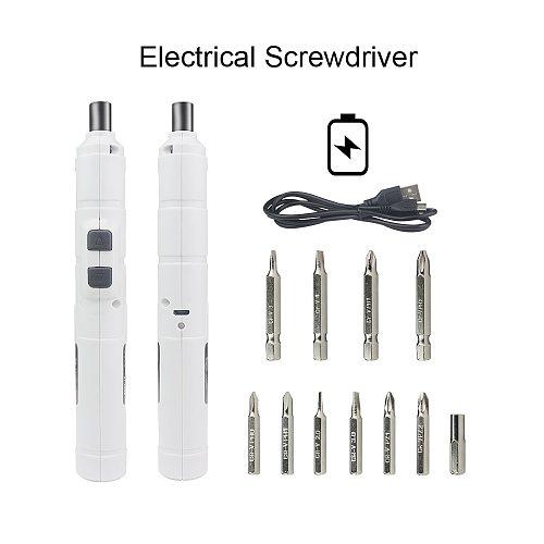 Mini Electric Screwdriver Rechargeable Cordless Power Screw Driver Kit Bit Set Power Tools 3.6V