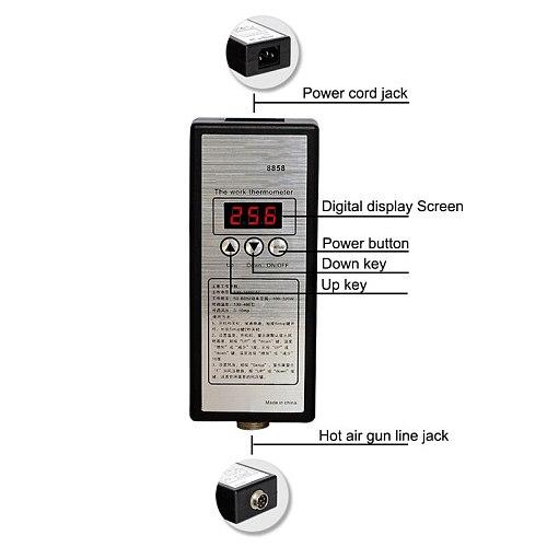 220V Portable BGA Rework Solder Station Hot Air Blower Heat Gun 8858 Better Hand-held hot air gun 6pcs