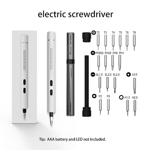 Electric Screwdriver Portable Cordless Magnetic Screw Driver Precision Hand Screwdriver Bit Set For Laptop PC Cellphone Drills