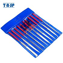 TASP 10pcs 140mm Diamond Coated Needle File Set Hand Tools for Steel Wood Ceramic Glass Stone Hobbies and Crafts