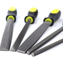 5pcs Medium-Toothed Metal Files Set for Metalworking Woodworking Steel Rasp File Flat Triangle Round Square Half-Round