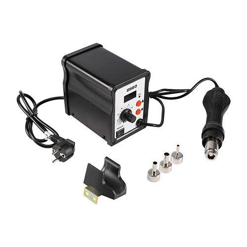 858D 700W 220V LED SMD Soldering Heat Gun Desoldering Station Hot Air Rework Gun Tool with 3 Nozzles Heat Gun Blow Dryer