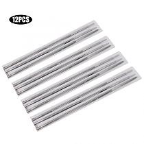 12Pcs Chain Saw Files Round Chainsaw Sharpening Files Woodworking Chain Saw File 4mm 5/32in for Wood Cutting Machine