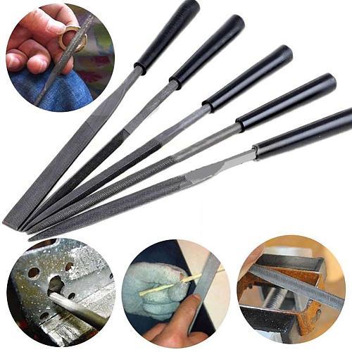 5Pcs Needle Files Set for Jewelery Metal Glass Stone Wood Carving Craft Tool Set