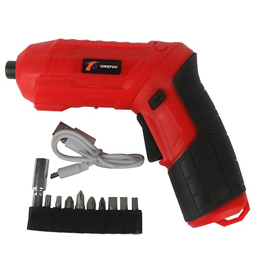 Rechargeable Lithium Battery Wireless Small Household Tool Hand Drill Electric Turning Drill Electric Screwdriver