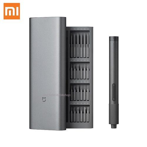 Xiaomi Mijia Electric Precision Screwdriver Kit 2 Gear Torque Control 400 Screw 1 Type-C Rechargeable Magnetic Aluminum Case