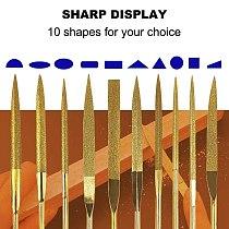 Metal File Set, Jewelers File Set, Crystal Repair File Set, Mini Diamond Needle File Set, Metalsmithing Tools 10 Pcs