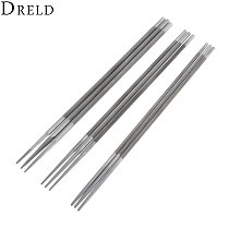 DRELD 3Pcs/lot High Carbon Steel Round Saw Chain File Set Chainsaw Sharpener Size 5/32  3/16  7/32  Metalworking Tools