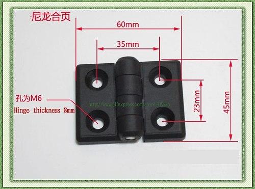 1PCt ABS engineering plastic nylon hinge 60 * 45  industrial jumbo durable free shipping