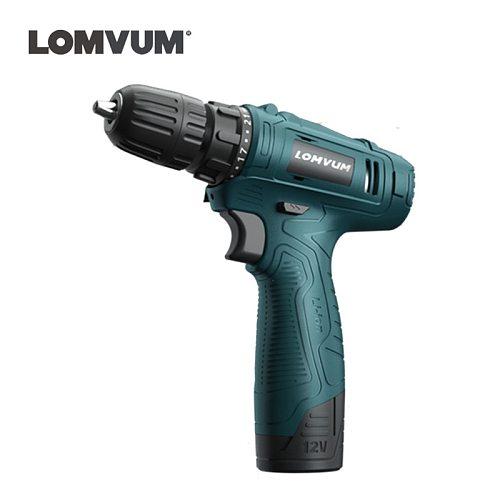 LOMVUM 12V lithium battery Household min Cordless screwdriver Charging Electric Torque Drill hole crew driver gun Power Tool