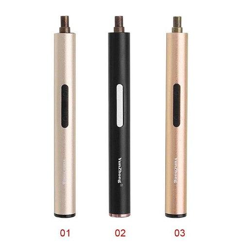 Mini S2 Alloy Rechargeable Cordless Electric Screwdriver Phone Repair Tool 3.7V 800mA Aluminum alloy shell, pen-shaped design