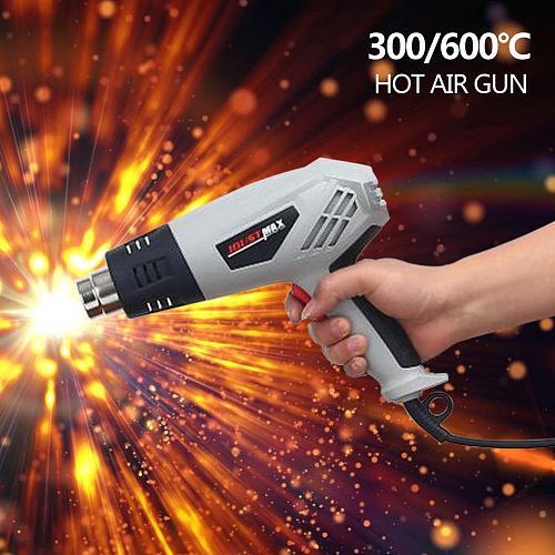 HEAVY DUTY 2000W HOT AIR HEAT GUN WALL DECOR STRIPPER 2 HEAT SETTINGS 300 Electric Hot Air Gun