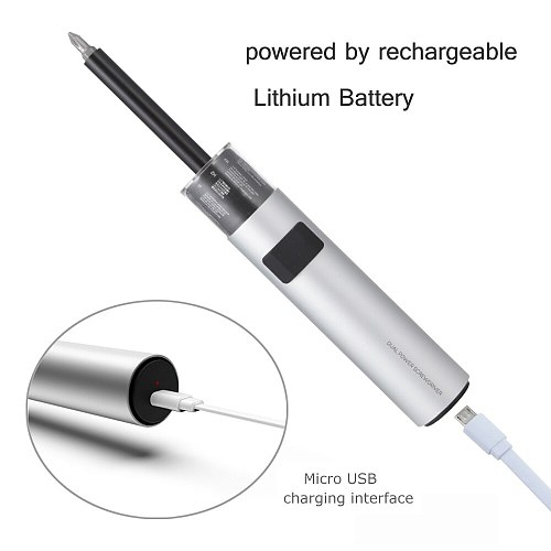 WOWSTICK New Screwdriver 3LED Lithium Battery Rechargeable Wear-resistant with Magnetic, USB Rechargeable Household Screwdriver