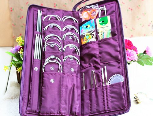 Professional DIY hand knitting needle set,crochet hook tool set, Weaving Tools