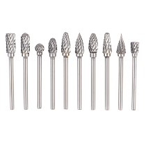 10pcs New CNC Tool Grinders Accessories Tungsten Carbide Cutter Rotary File Woodworking Milling Cutter Polishing Head 3*6mm