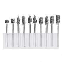 One Set 10 Tungsten Steel Carbide Burrs for  Tool Drill Bit  hand tools