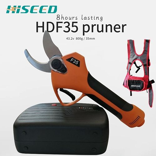 HISEED electric branch scissors , electric scissors F35 800g on hand 35mm cutting electric pruning shears