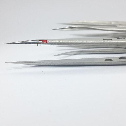 5pcs Tweezers of BAKU Hollow-Out Design, Ultra Rigidity Fine Point Anti-Static Stainless Steel Tweezers Set for iPhone Repair