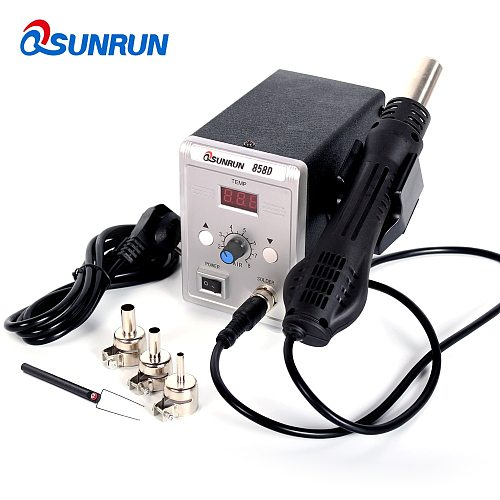Qsunrun 700W Hot Air Gun 858D ESD Soldering Station LED Digital Desoldering Station Upgrade from 858D