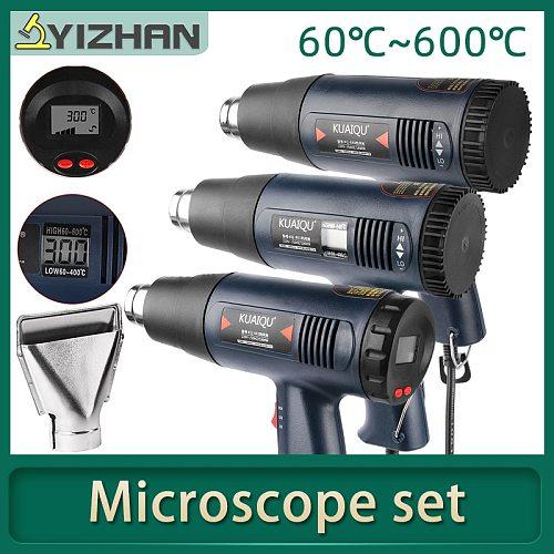 1800W Hot Air Gun Professional Electric Adjustable Temperature-controlled Building Hair dryer Soldering Tools Heat gun + 7Nozzle