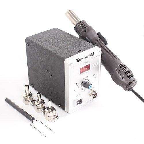 858D Hot Air Gun 700W BGA Rework Solder Desoldering Station Heat Air Gun Blower Hair Dryer Soldering SMD SMT Welding Repair Tool