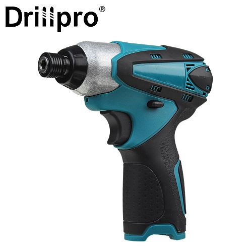 Drillpro Cordless Electric Screwdriver Rechargeable Household Variable Speed Electric Drill with LED Torch For Makita Battery