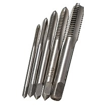 5PCS/Set HSS M3 M4 M5 M6 M8 Machine Spiral Point Straight Fluted Screw Thread Metric Plug Hand Tap Drill Set Hand Tools