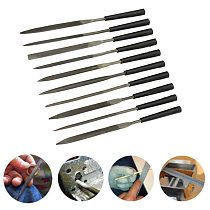 10pcs Stone Jewelers Diamond Wood Carving Craft Metal Needles Files Sewing Burrs Wood Bits Grinding Power Woodworking Hand Tool