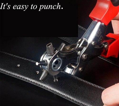 Belt Puncher Eye Multi-function Labor-saving Belt Pants Belt Hole Table With Round Hole Punching Pliers F101