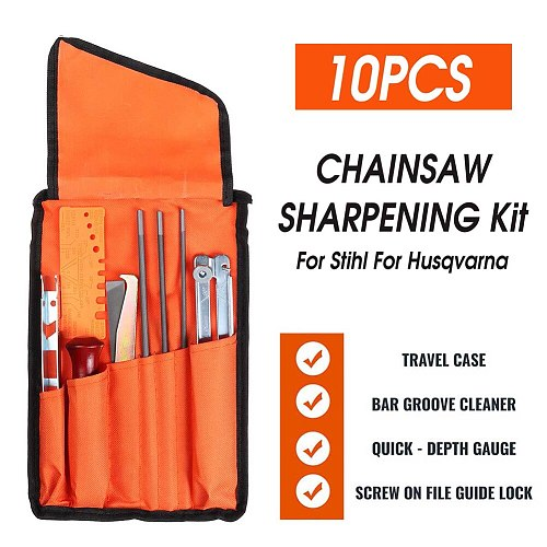 Special Household Hand Tools 10 Pcs Chainsaw Sharpening File STIHL Filing Kit Chain Sharpen Saw Files Tool New