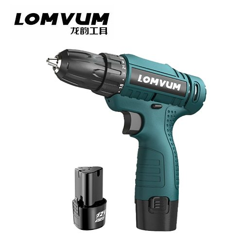 LOMVUM 12V Electric Screwdriver Mini Cordless Screwdriver Additional Battery Charging Electric Drill Driver Power Tool