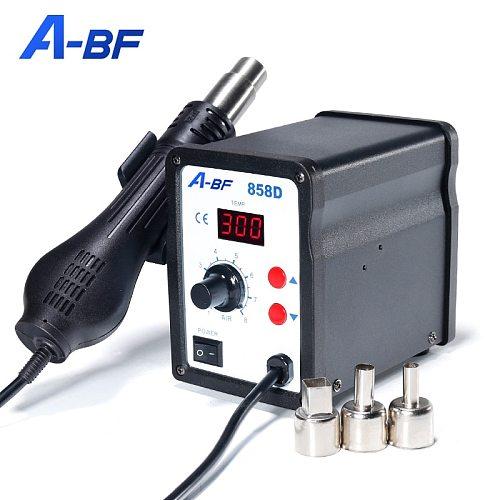 A-BF Anti Static Rework Station Digital Display Desoldering Station Hot Air Gun Adjustable Wind Heat Gun Welding Dryer 600°C