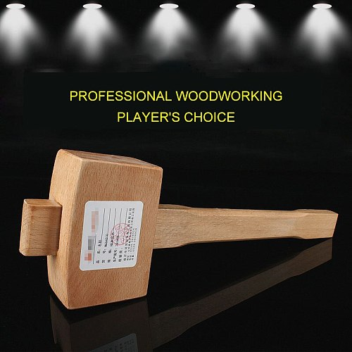 1Pcs Woodworking Hammer Beech Solid Sturdy Comfortable Safety Wooden Hammer Portable Woodworking Chisel Accessories