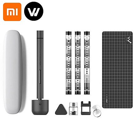 xiaomi Wowstick 1F Pro Mini Electric Screwdriver Rechargeable Cordless Power Screw Driver Kit with LED Light Lithium Battery